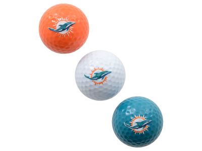 Miami Dolphins 3-pack Golf Ball Set