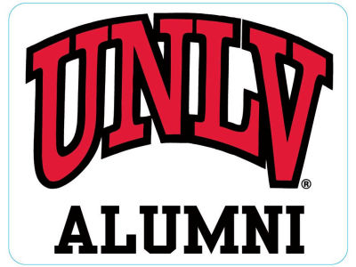 UNLV Runnin Rebels 4x4 Magnet