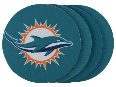 Miami Dolphins 4-pack Neoprene Coaster Set