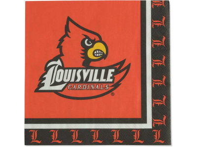 Louisville Cardinals 20 Count Luncheon Napkin