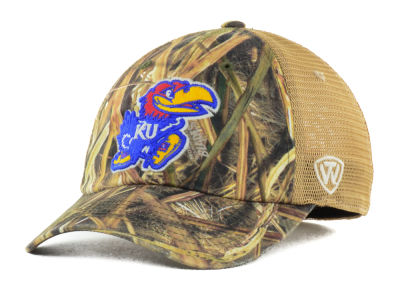 Kansas Jayhawks Top of the World Blades Mesh One-Fit Cap
