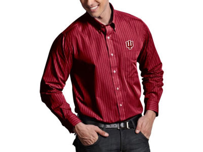 Indiana Hoosiers Antigua NCAA Achieve Button Down Woven