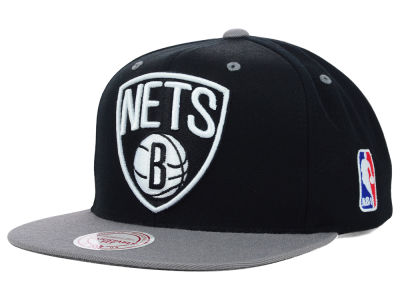 Brooklyn Nets Mitchell & Ness NBA Under Over Snapback Cap