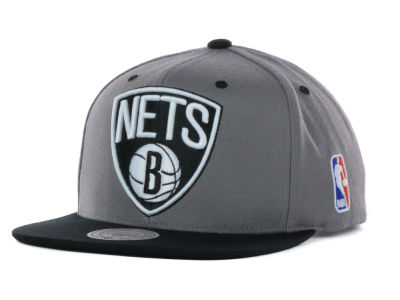 Brooklyn Nets Mitchell and Ness NBA Under Over Snapback Cap
