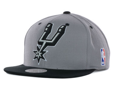 San Antonio Spurs Mitchell and Ness NBA Under Over Snapback Cap