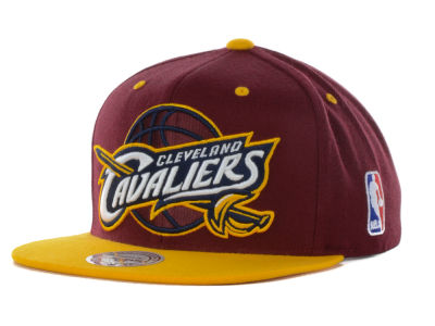 Cleveland Cavaliers Mitchell and Ness NBA Under Over Snapback Cap