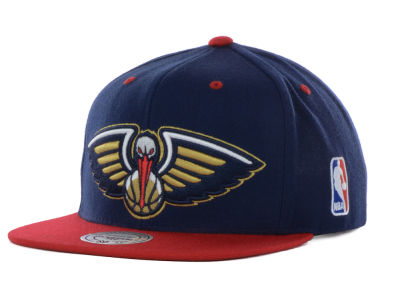 New Orleans Pelicans Mitchell & Ness NBA Under Over Snapback Cap