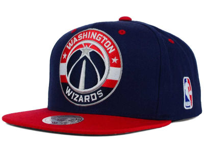 Washington Wizards Mitchell and Ness NBA Under Over Snapback Cap