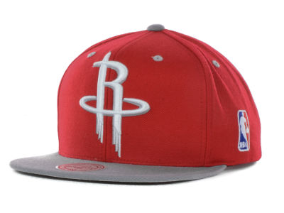 Houston Rockets Mitchell and Ness NBA Under Over Snapback Cap