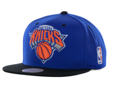 New York Knicks Mitchell and Ness NBA Under Over Snapback Cap