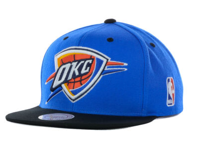 Oklahoma City Thunder Mitchell and Ness NBA Under Over Snapback Cap