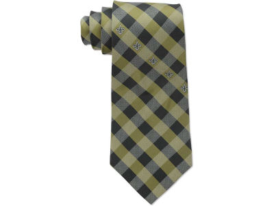 New Orleans Saints Polyester Checked Tie