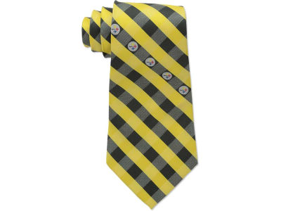 Pittsburgh Steelers Polyester Checked Tie