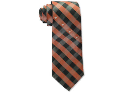 Texas Longhorns Polyester Checked Tie