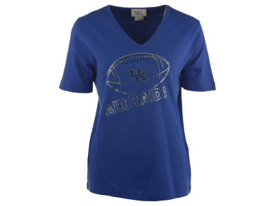 Kentucky Wildcats NCAA Women's Air Raid V-Neck Football T-Shirt