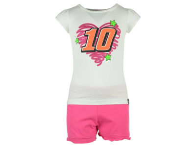 Danica Patrick NASCAR Toddler Girls Fun Power Shorts and T-Shirt Outfit