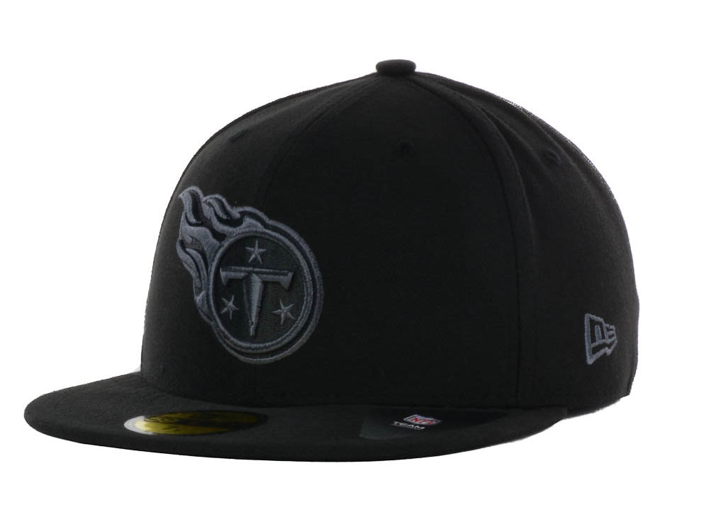 525fab446 Tennessee Titans New Era NFL Black Gray Basic 59FIFTY Cap