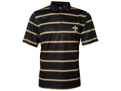 New Orleans Saints NFL Drytec Embossed Tackle Polo