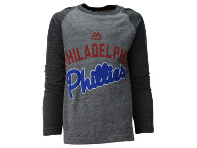 Philadelphia Phillies MLB Youth Striker Raglan Long Sleeve T-Shirt