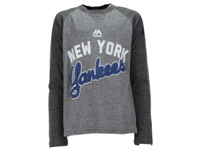 New York Yankees MLB Youth Striker Raglan Long Sleeve T-Shirt