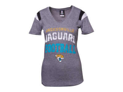 Jacksonville Jaguars NFL Womens Sleeve Stripe Team T-Shirt