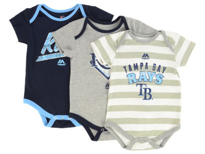 Tampa Bay Rays MLB Newborn Triple Play 3 Piece Bodysuit Set