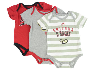Arizona Diamondbacks MLB Infant Triple Play 3 Piece Bodysuit Set