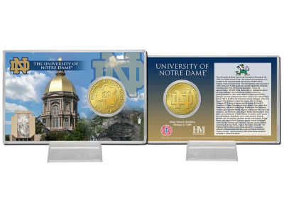 Notre Dame Fighting Irish Coin Card-Silver