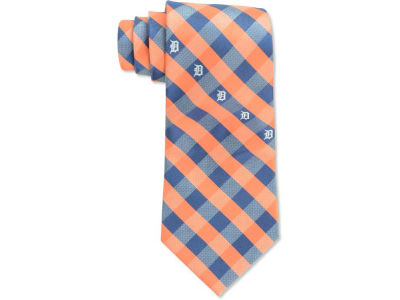 Detroit Tigers Polyester Checked Tie