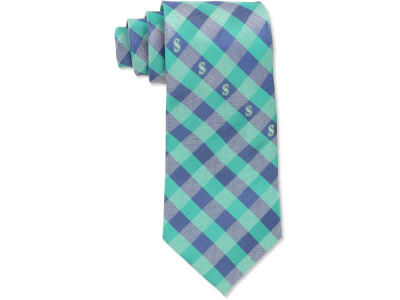 Seattle Mariners Polyester Checked Tie
