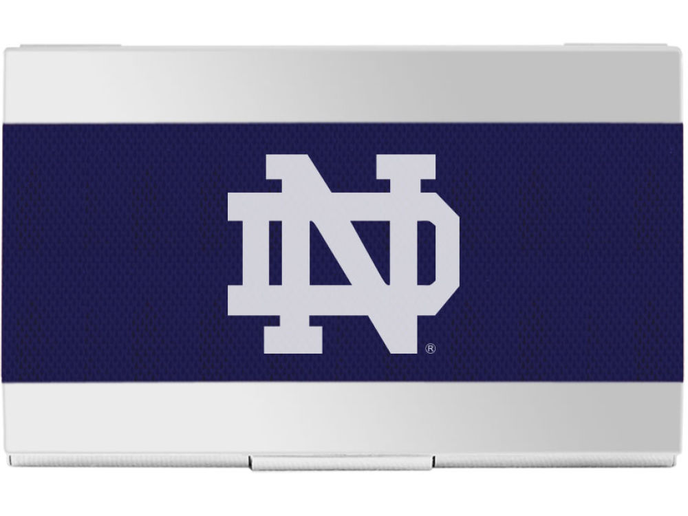 Notre Dame Fighting Irish Colored Carbon Fiber Business Card Holder
