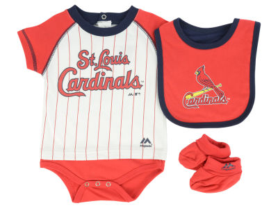 St. Louis Cardinals MLB Newborn LP Creeper Bib and Bootie Set