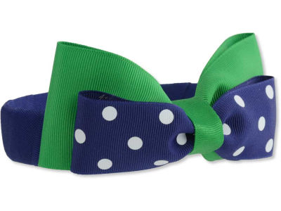 Notre Dame Fighting Irish Headband with Dot Bow