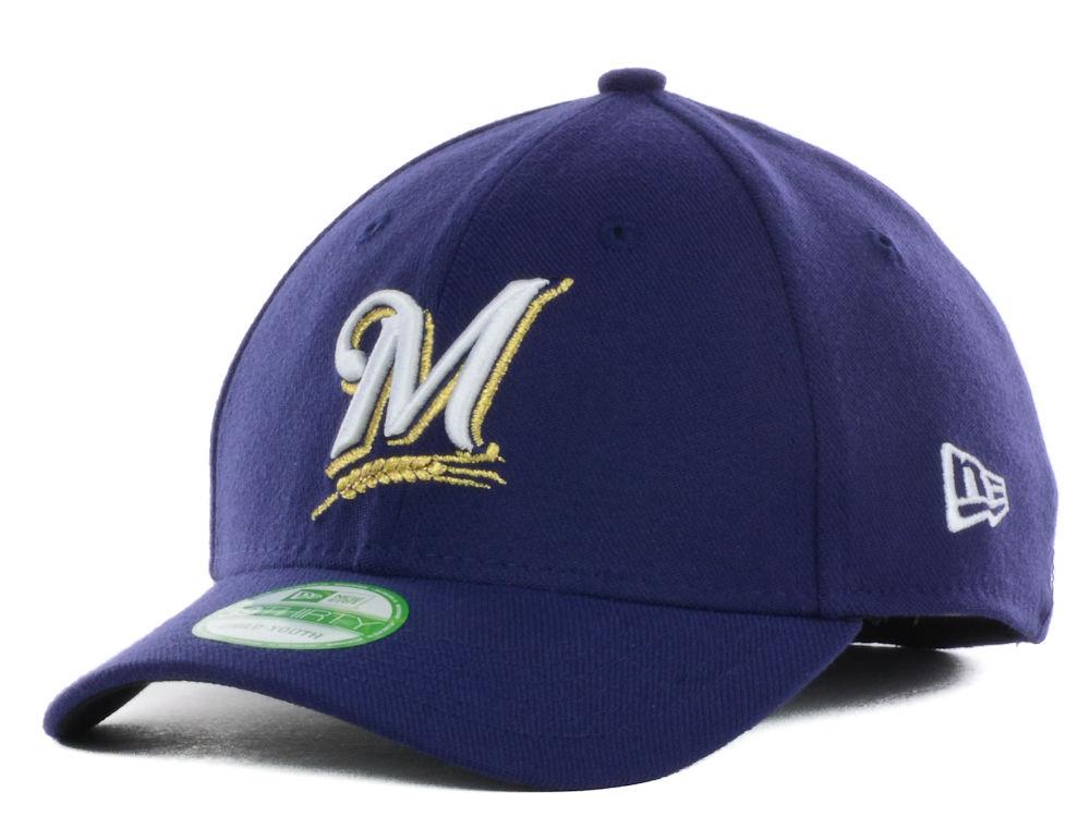 Milwaukee Brewers New Era MLB Junior Team Classic 39THIRTY Cap ... c497465c6693