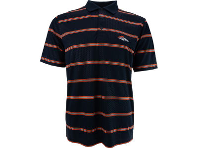 Denver Broncos NFL Drytec Embossed Tackle Polo