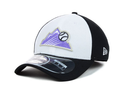 Colorado Rockies New Era MLB Diamond Era White Front 39THIRTY Cap