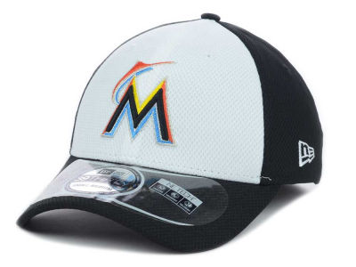 Miami Marlins New Era MLB Diamond Era White Front 39THIRTY Cap