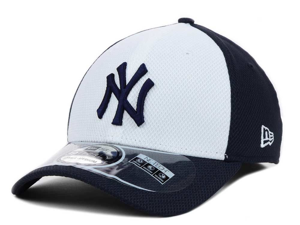 New York Yankees New Era MLB Diamond Era White Front 39THIRTY Cap ... cad00dcf766