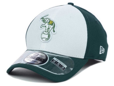 Oakland Athletics New Era MLB Diamond Era White Front 39THIRTY Cap