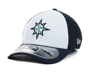 Seattle Mariners New Era MLB Diamond Era White Front 39THIRTY Cap