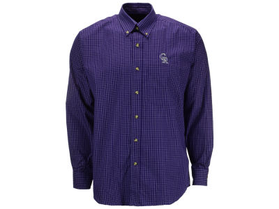 Colorado Rockies MLB Men's Esteem Long Sleeve Button Up Shirt