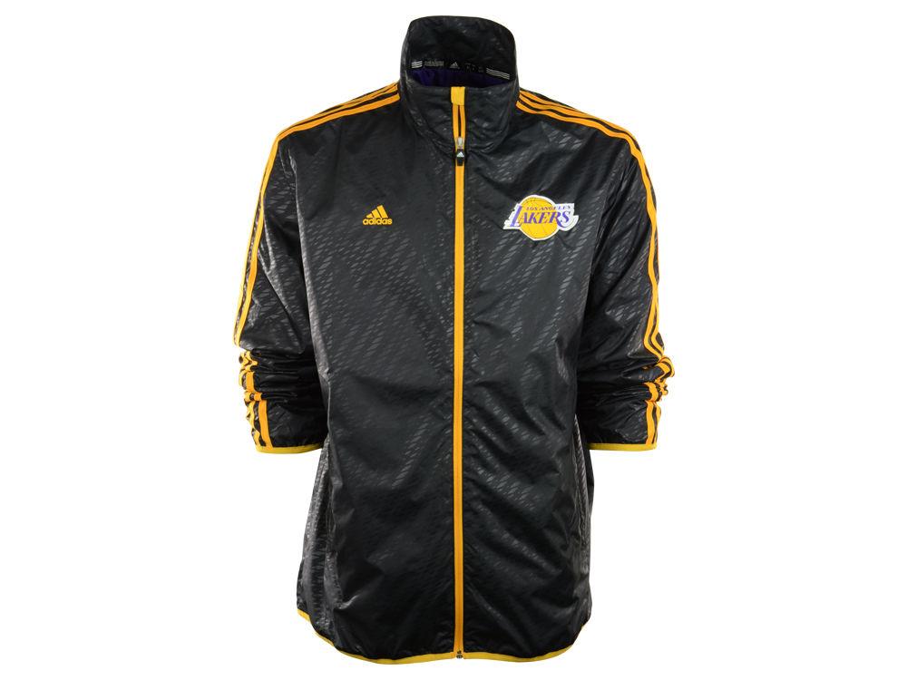 da2524693 Los Angeles Lakers adidas NBA Embossed Lightweight Jacket