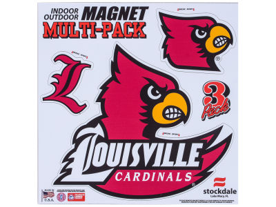 Louisville Cardinals Moveable 8x8 Decal Multipack
