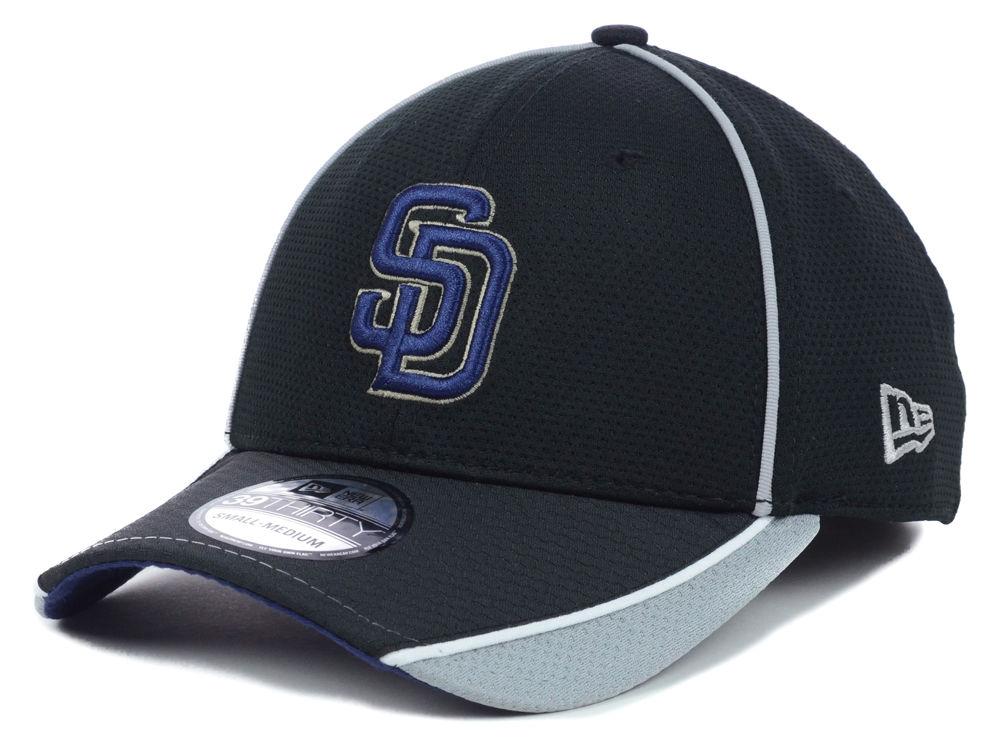 on sale 01661 4d13c San Diego Padres New Era MLB Pipe Slide 39THIRTY Cap   lids.com