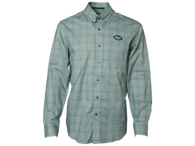 New York Jets NFL Men's Completion Plaid Button Up Shirt
