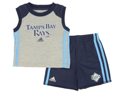 Tampa Bay Rays MLB Toddler Base Hit Short Set