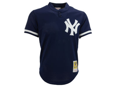 New York Yankees Bernie Williams MLB Men's Authentic Mesh Batting Practice V-Neck Jersey