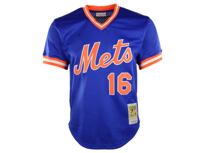 New York Mets Dwight Gooden Mitchell & Ness MLB Men's Authentic Mesh Batting Practice V-Neck Jersey