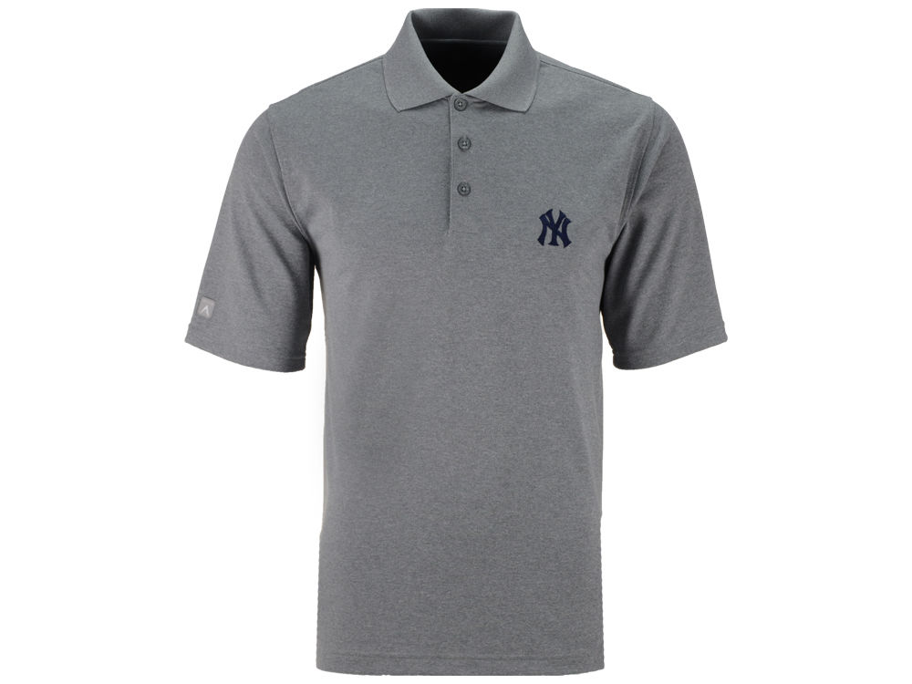 New York Yankees Antigua MLB Men s Pique Extra Lite Polo Shirt ... 7e3fc092bc4