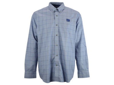 New York Giants NFL Men's Completion Plaid Button Up Shirt